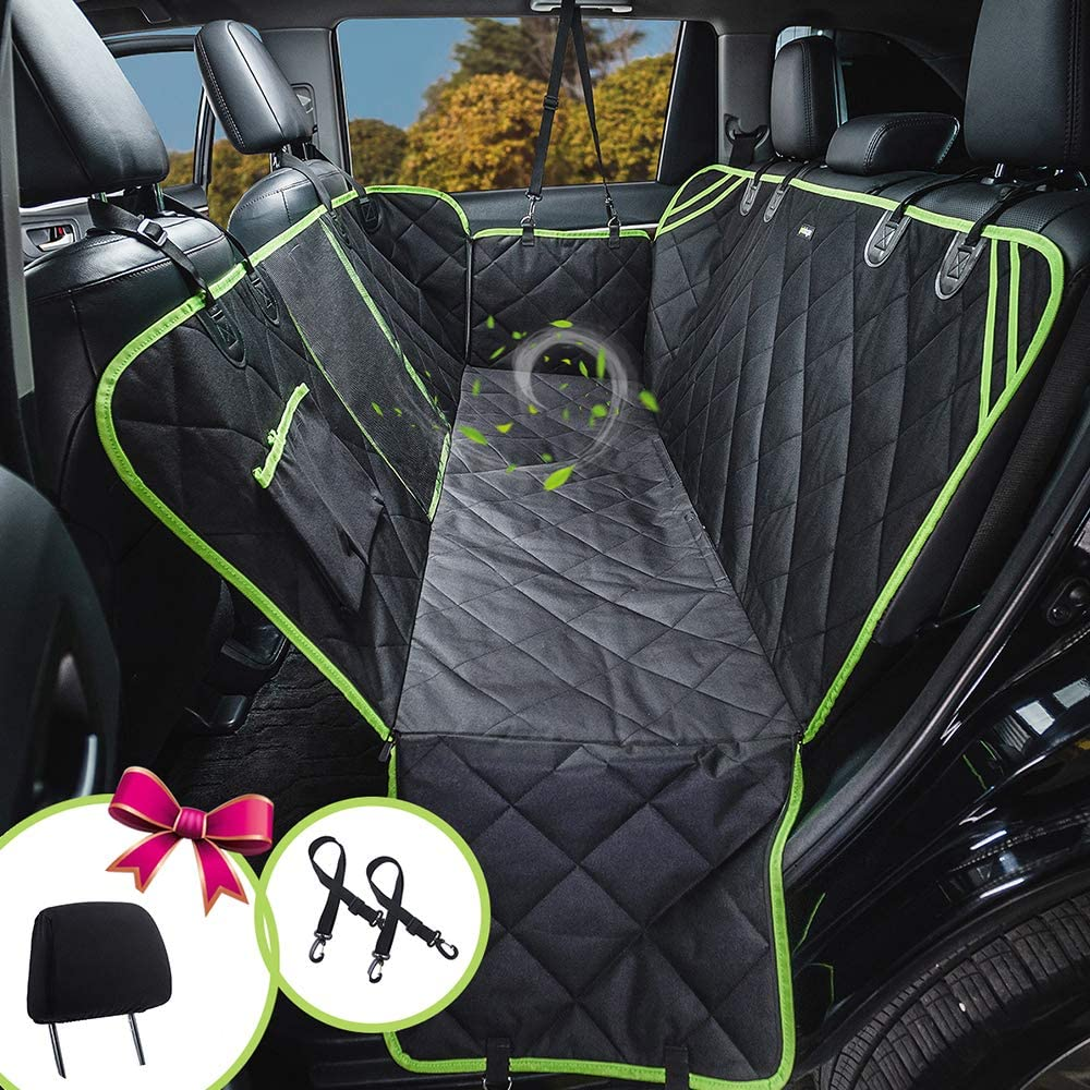 petalage Dog Seat Cover for Back Seat 100 Waterproof Dog Car Seat Covers with Mesh Window Car Seat Covers for Dogs Dog Backseat Cover for Cars Trucks SUV HYSC2
