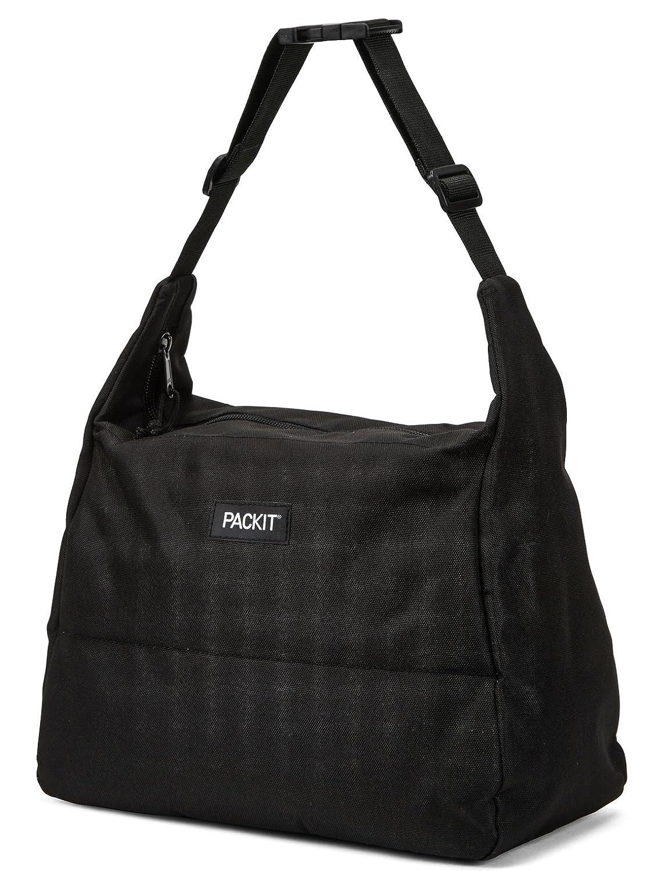 PackIt Freezable Hobo Lunch Bag, Black PKT-HB-BLA