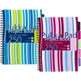 Pukka Project Pads A4 80gsm 5 Coloured Movable Dividers
