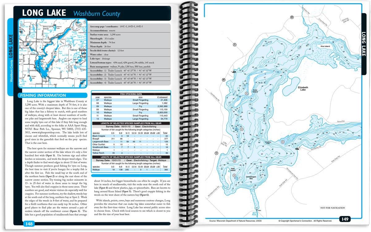 Northwest Wisconsin Fishing Map Guide Northern Region Sportsmans