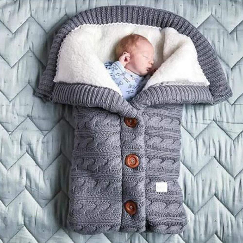 Bebé Manta Bebe Recien Nacido Bolsa De Dormir De Invierno Tejer Calentar Saco De Dormir Envoltura De Cochecito Para Bebe Ropa Aceautocare Net