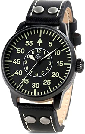 laco bielefeld type b dial miyota automatic watch black ion case 861760