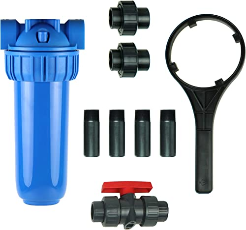 Aquasana Rhino Whole House Water Filter System Installation Kit with 3 4 Fittings and 10 Pre-Filter