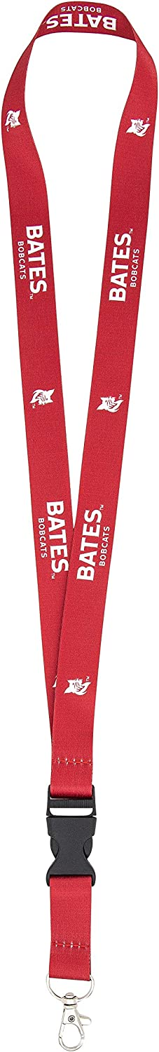 Bates College Bobcats NCAA Car Keys ID Badge Holder Lanyard Keychain Detachable Breakaway Snap Buckle