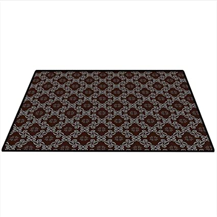 Amazon.com: Damask Decor Dining Room Home Bedroom Carpet Old ... on brown crown molding kitchen, modern victorian kitchen, victorian house trim exterior, victorian kitchen cabinets,