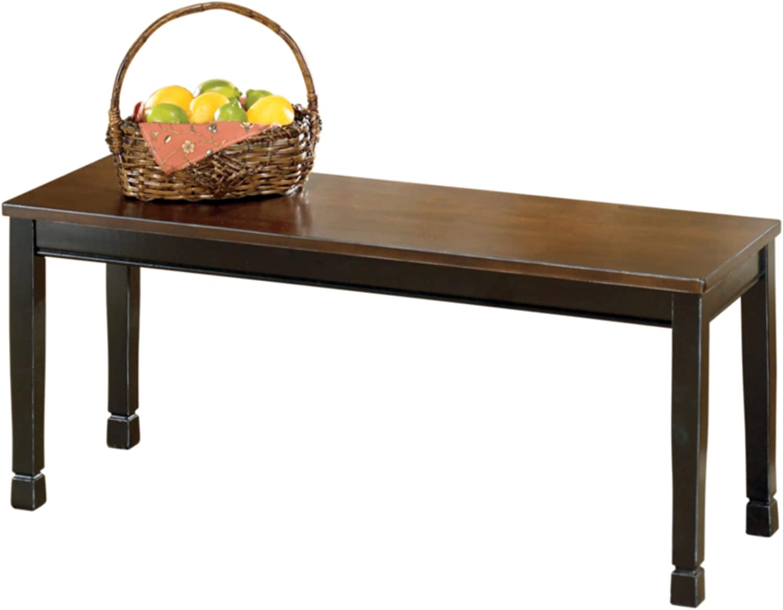 Ashley Furniture Signature Design - Owingsville Dining Bench - Rectangular - Black and Brown