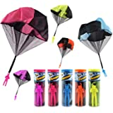 TSLIKANDO 5pcs Tangle Free Throwing Toys Parachute Toy Toss It Up and Watch Landing Flying Toys Children