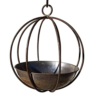 Passage SG-WOK-10-MS Hanging Planter, Rust: Garden & Outdoor