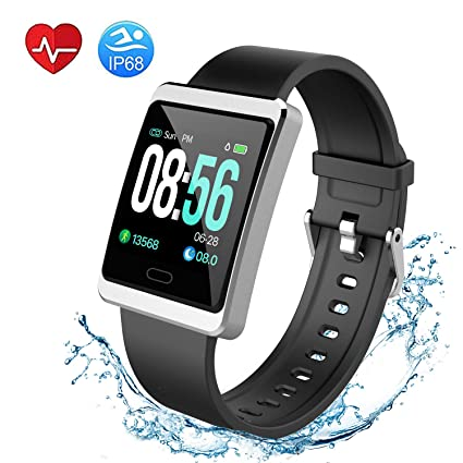 Fitness Tracker, Vankany Activity Tracker Waterproof IP68 Smartwatch with Sleep Monitor Step Counter Calorie Counter Smart Bracelet for Women/Men - ...