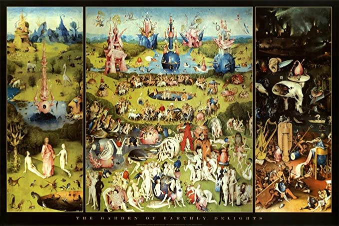 Hieronymus Bosch Garden Of Earthly Delights Art Print Poster 36 X 24in by Imaginus Posters