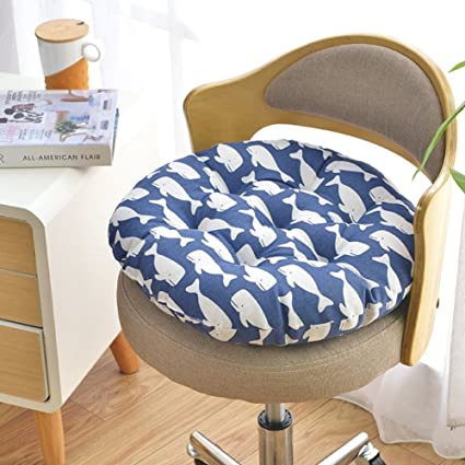 QTQZ Round Chair Cushion,Autumn And Winter Padded Round Stool Rattan Cushion  Simple Dormitory Futon