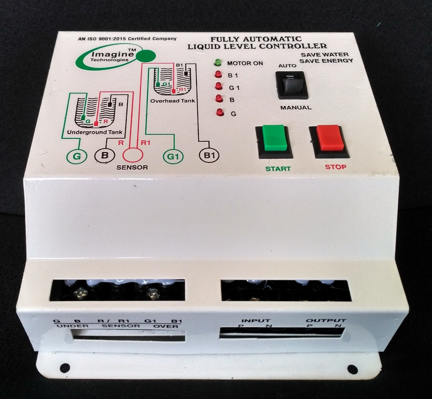 Imagine Technologies Fully Automatic Water Level Controller With Up Sensor Or Liquid Detector Moisture Alarm And Down Tank White Single Phase Electricity Compatible Industrial