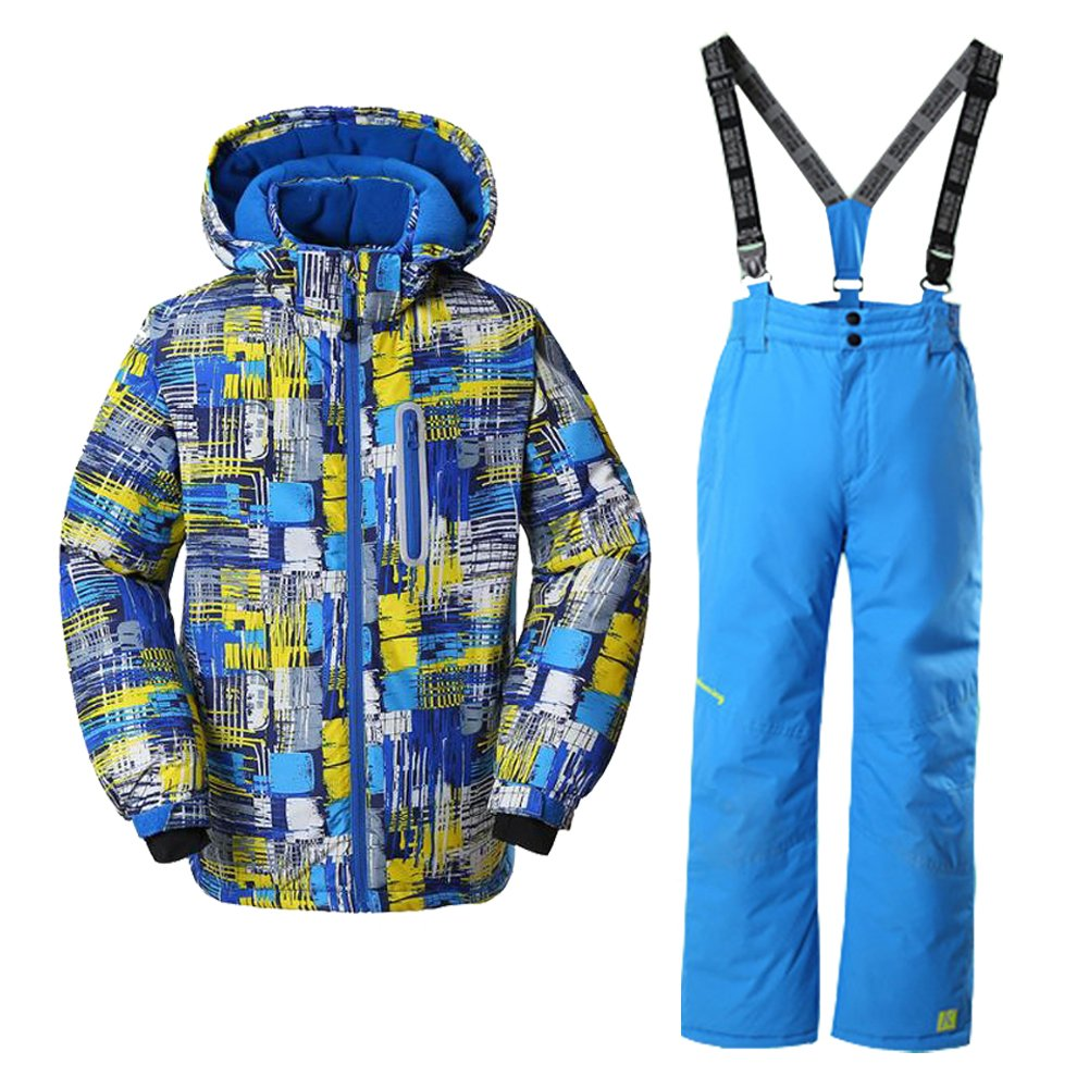 GS SNOWING Ski Jacket Snow Insulated Suit Windproof & Waterproof for Boy hx26