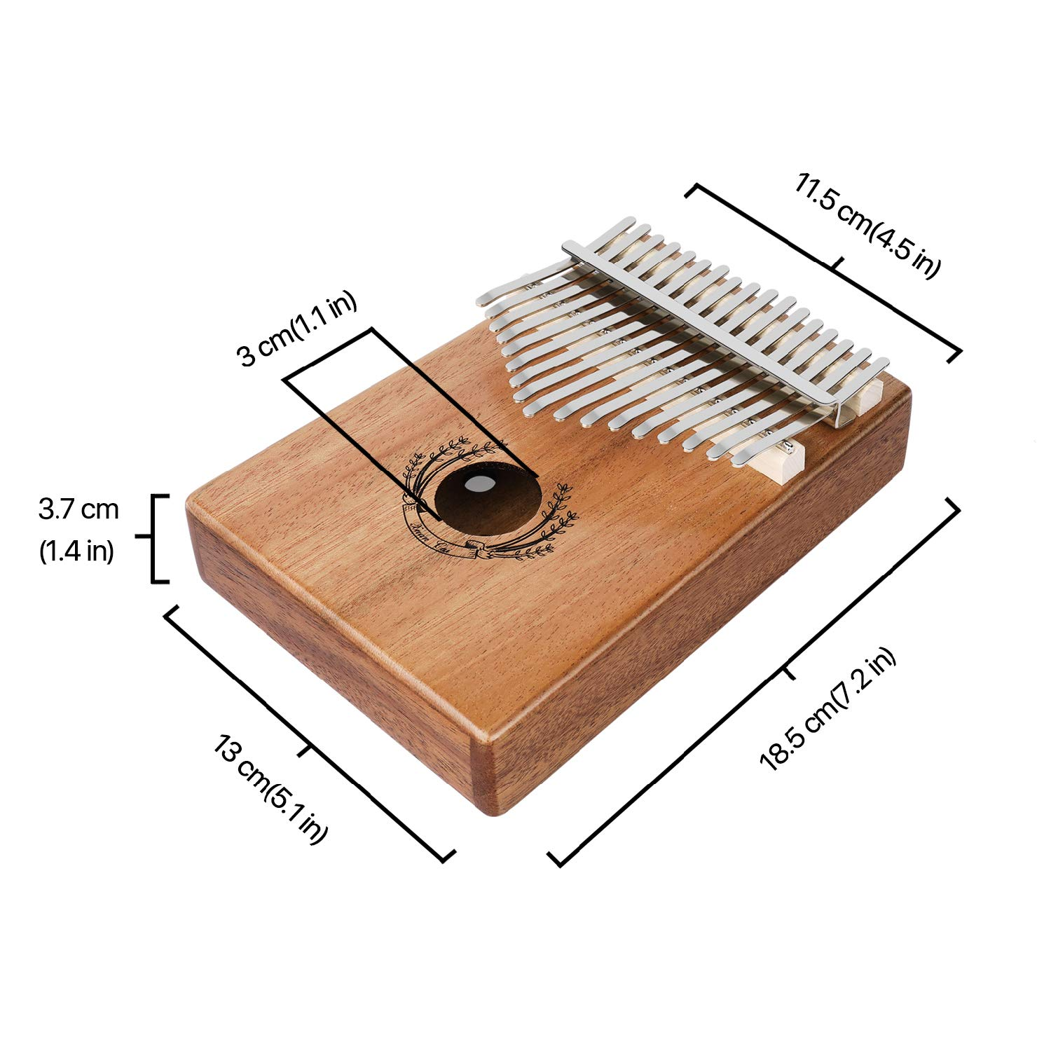 Flexzion Kalimba 17 Keys Thumb Piano, Mbira 17 Tone Finger Piano Portable African Musical Instrument with Musical Scorebook/Learning Booklet, Tune Hammer, Storage Carrying Bag by Flexzion (Image #6)