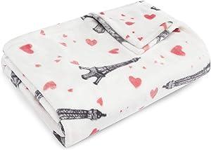 Betsey Johnson Paris Love Throw, 50x70, Pink,USHSHF1089730