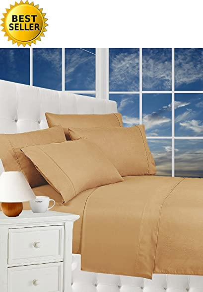 Best Seller Luxurious Bed Sheets Set On Amazon! Celine Linen1800 Thread  Count Egyptian Quality Wrinkle
