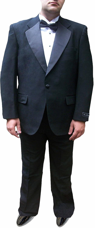 Broadway Tuxmakers Mens 100% Wool Black Notch Lapel Tuxedo Suit bt-100WOOLTUX