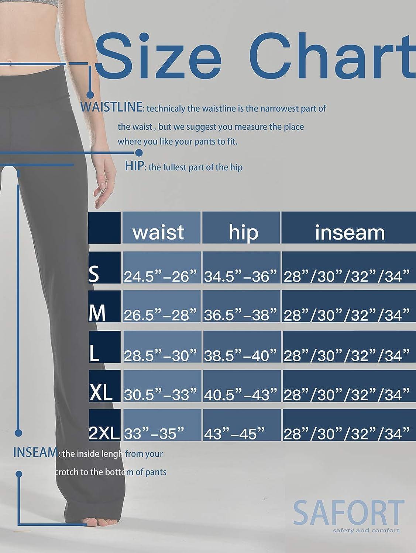 Black Flare Pants Safort Long Bootleg 4 Pockets 28//30//32//34 Inseam Regular//Tall Bootcut Yoga Pants 3 Colors