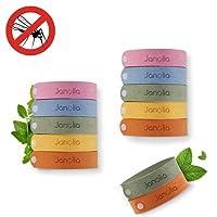 Janolia Mückenschutz Armband, 12 Stück Anti Mosquito Bracelet Repellent Wristband Armband natürlichen Öl Sicheres Deef-Freies und Wasserdichtes Insektenschutz-Armband für Kinder, Erwachsene
