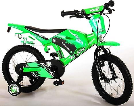 Bicicleta de Niño 4 5 6 Años 16 Pulgadas Motocross Frenos al ...