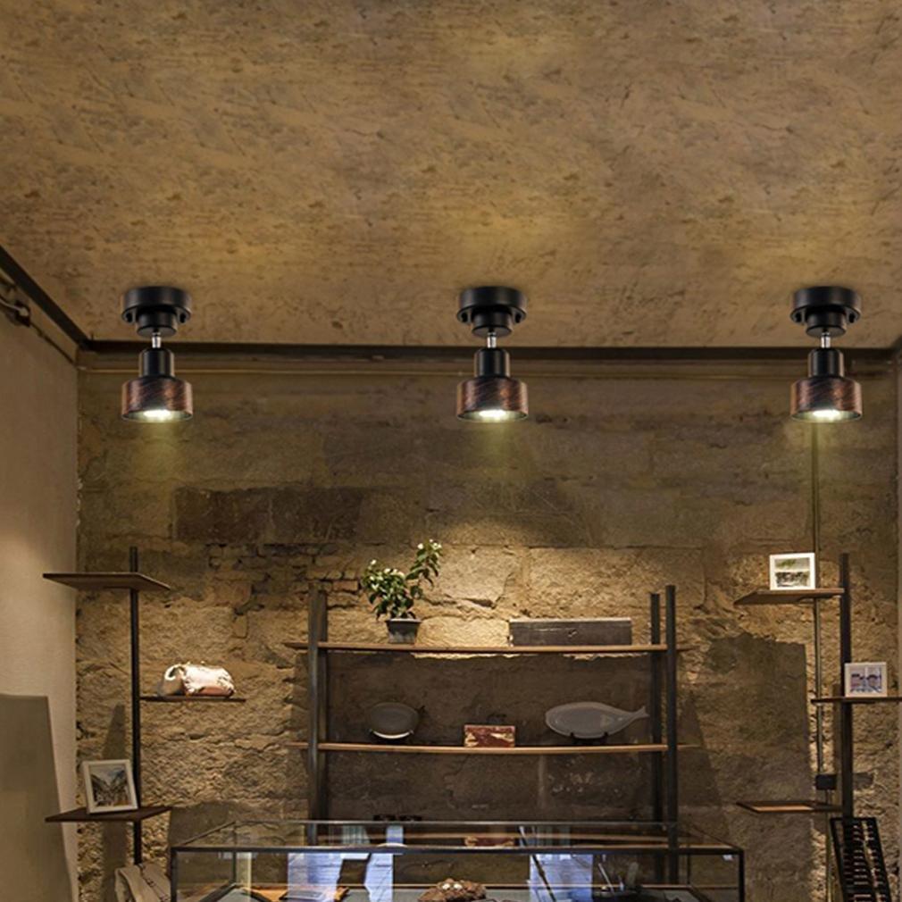 Plafonnier Projecteur Lampe rouille salon chambre éclairage Spot Lampe Réglable