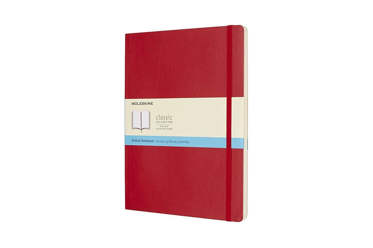 Moleskine Classic Notebook, Extra Large, Dotted, Scarlet Red, Soft Cover (7.5 x 10) 8055002854702 NON-CLASSIFIABLE