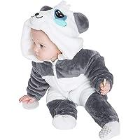 corimori- Mei el Panda (6+ Modelos) Ropa de Dormir Disfraz Oso Bebé, Color blanco, azul, gris, Talla 70-90 cm (1850…