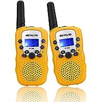 Retevis RT388 Walkie Talkie Niños PMR446 8 Canales LCD Pantalla Linterna Incorporado VOX 10 Tonos de Llamada Walkie…