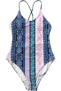 ef113e744e6 CUPSHE Light Up The Night Print One-Piece Swimsuit Beach Swimwear Bathing  Suit