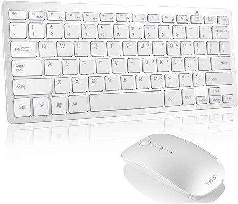 Tastiera e mouse wireless sottile 2,4 GHz con ricevitore USB