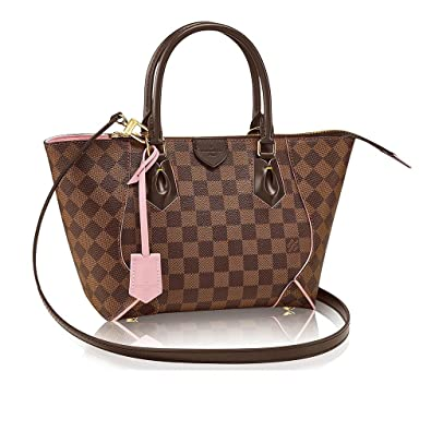 ecb29abfa9f2 Amazon.com  Authentic Louis Vuitton Damier Caissa Tote PM Handbag  Article N41554 Rose Ballerine Made in France  Shoes