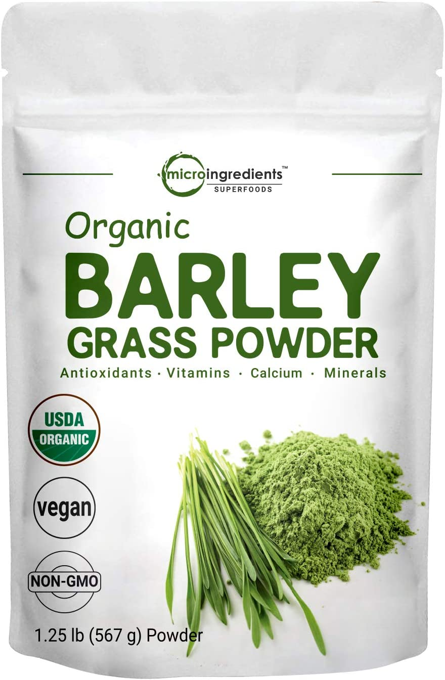 Sustainably US Grown, Organic Barley Grass Powder, 20 Ounce 1.25 Pounds , Rich Fibers, Immune Vitamins, Minerals, Antioxidants and Protein, Support Immune System and Digestion Function, Vegan