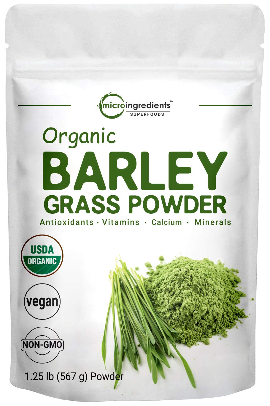 Sustainably US Grown, Organic Barley Grass Powder, 20 Ounce (1.25 Pounds), Rich Fibers, Immune Vitamins, Minerals, Antioxidants and Protein, Support Immune System and Digestion Function, Vegan