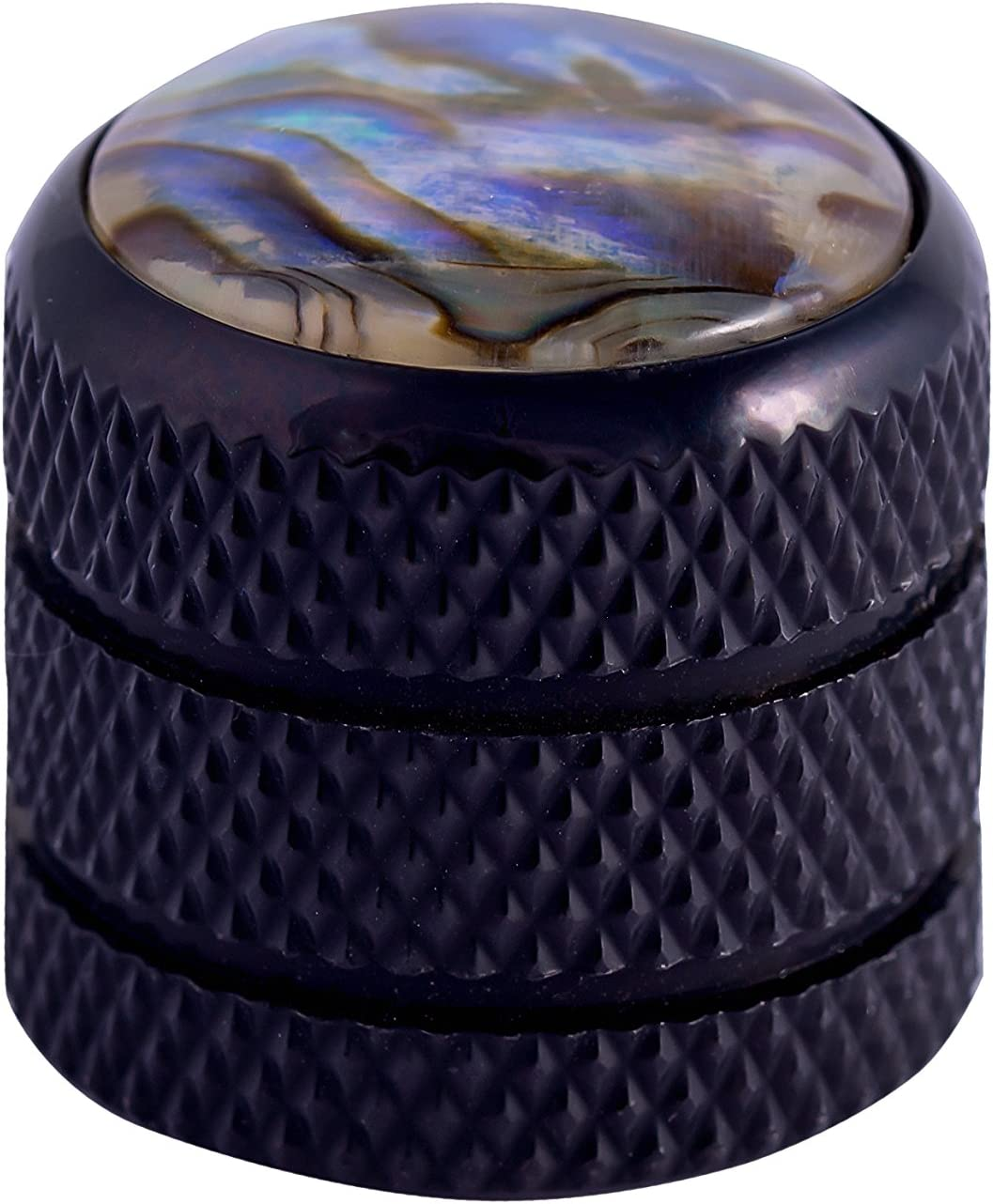 GUYKER Black Abalone Top Dome Knobs Replacement for Tele Telecaster Electric Guitar 1pc
