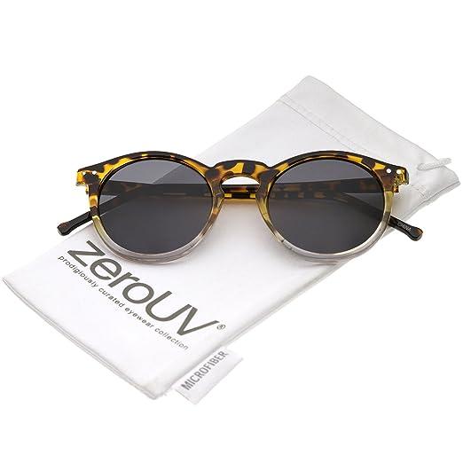 63db5b66773da zeroUV - Classic Lux P3 Shape Keyhole Bridge Metal Rivet Circle Round  Sunglasses (Tortoise-