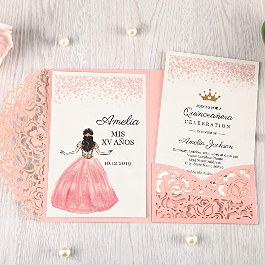 Amazon Com Doris Home Invitaciones De Boda Con Sobres Para