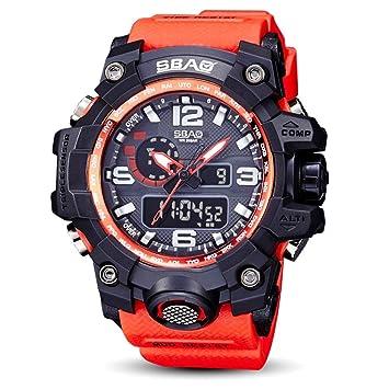 Logobeing Reloj LED Digital Hombre Pulsera Relojes Deportivos Impermeables Electrónica Digital (Rojo): Amazon.es: Deportes y aire libre