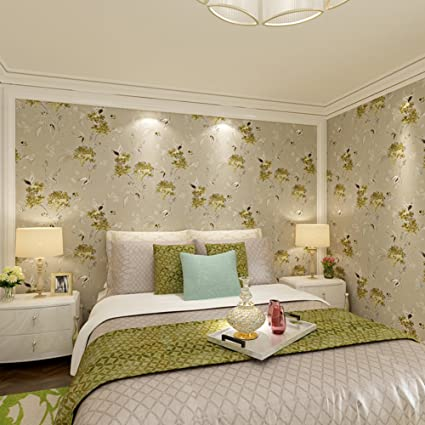 Chinese Style Wallpaper Simple But Elegant Floral Living Room Wallpaper Den  Bedroom Wallpaper Wallpaper For
