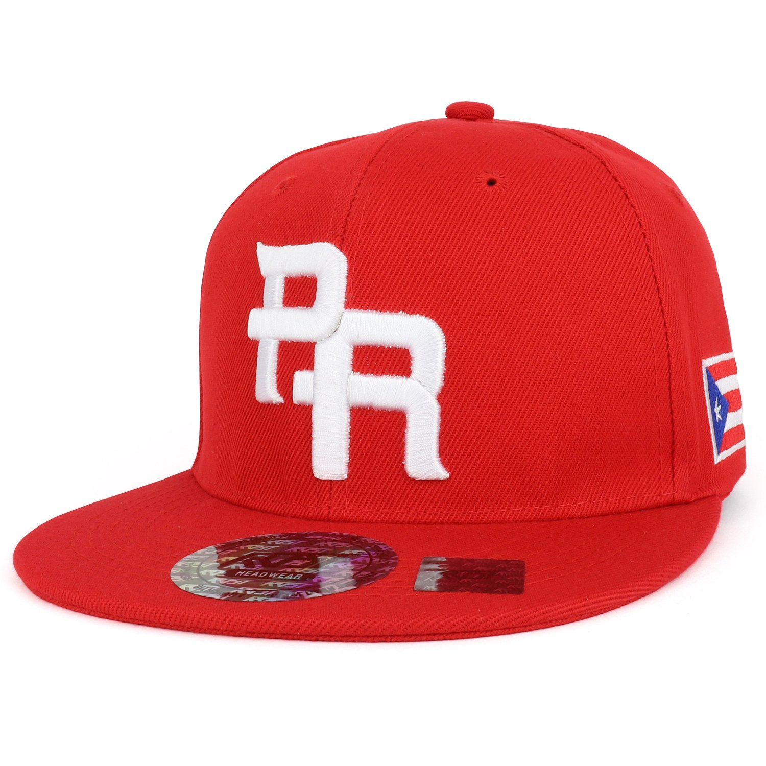 85bdfcbb5d441 Trendy Apparel Shop PR 3D Embroidered Flatbill Snapback Cap with Puerto  Rico Flag - RED RED
