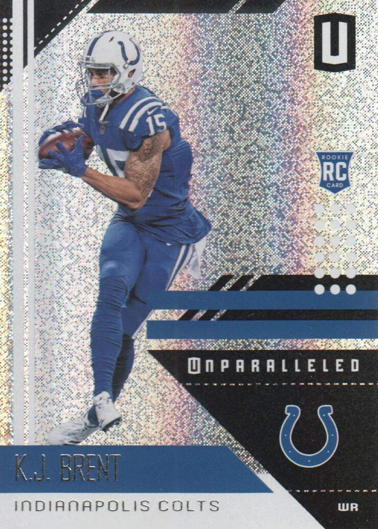 new concept 2f10d f0703 2018 Panini Unparalleled Football #87 K.J. Brent RC ...