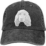 English Cocker Spaniel Dog Vintage Adjustable Denim Hat Baseball Caps for Man and Woman