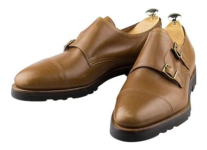 John Lobb Shoes >> Amazon Com John Lobb Brown Leather Double Monkstrap Loafers Shoes
