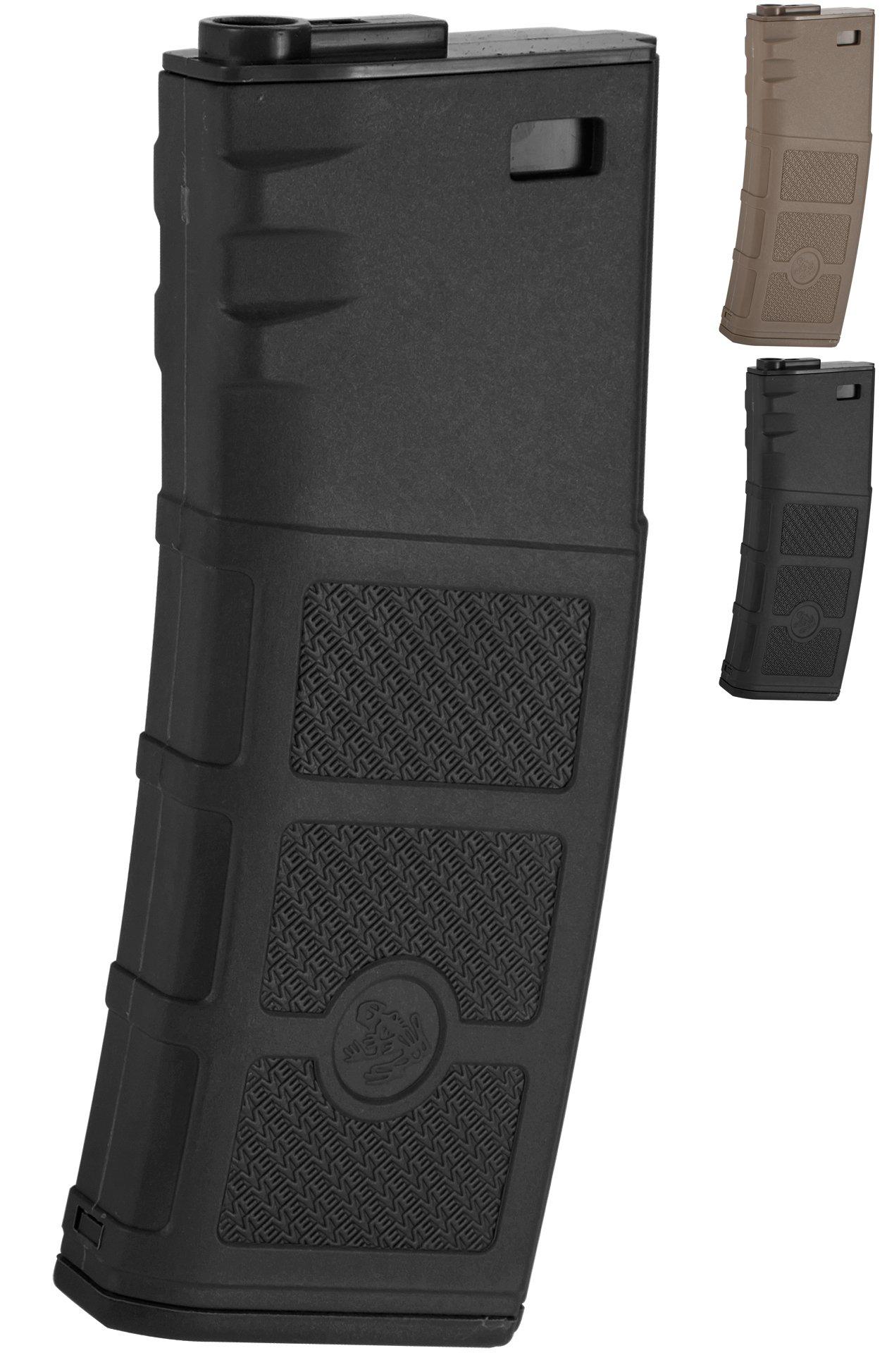 Evike G&P High RPS 130rd Polymer Mid-Cap Magazine for M4 M16 Airsoft AEG Rifles - Black - (42511) by Evike
