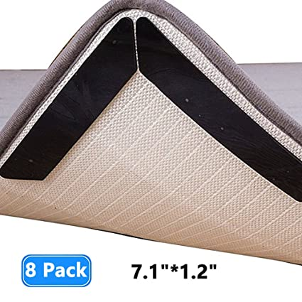 8Pcs Anti Slip Soft Mat Rug Carpet Anti Curling Rug Grippers Tape Floor Home T