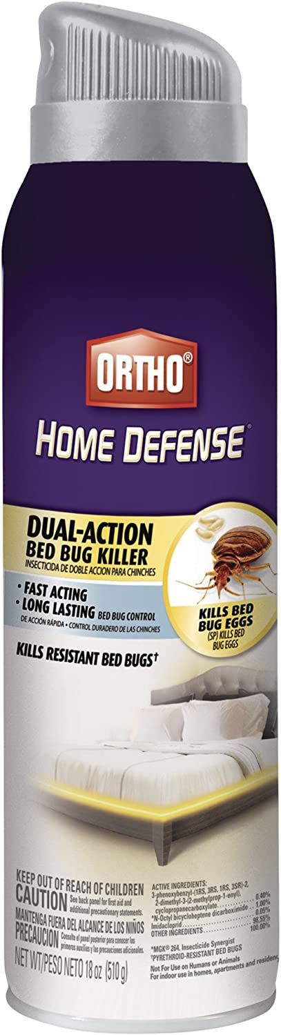 Amazon Com Ortho Home Defense Dual Action Bed Bug Killer Aerosol 18 Oz Bug Insect Control Flys And Insects Garden Outdoor