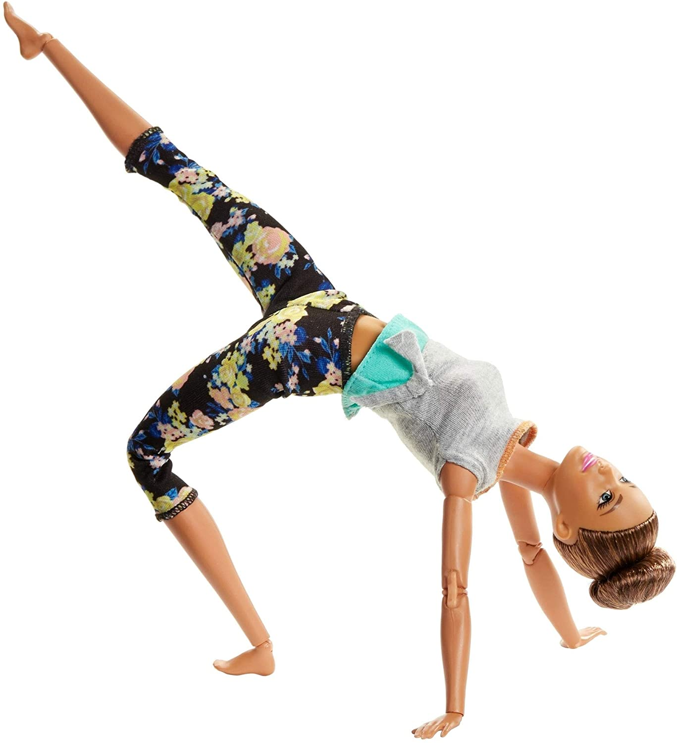 Barbie Made To Move Doll Brunette Updo 22 Joints Flexible Yoga Pants Original