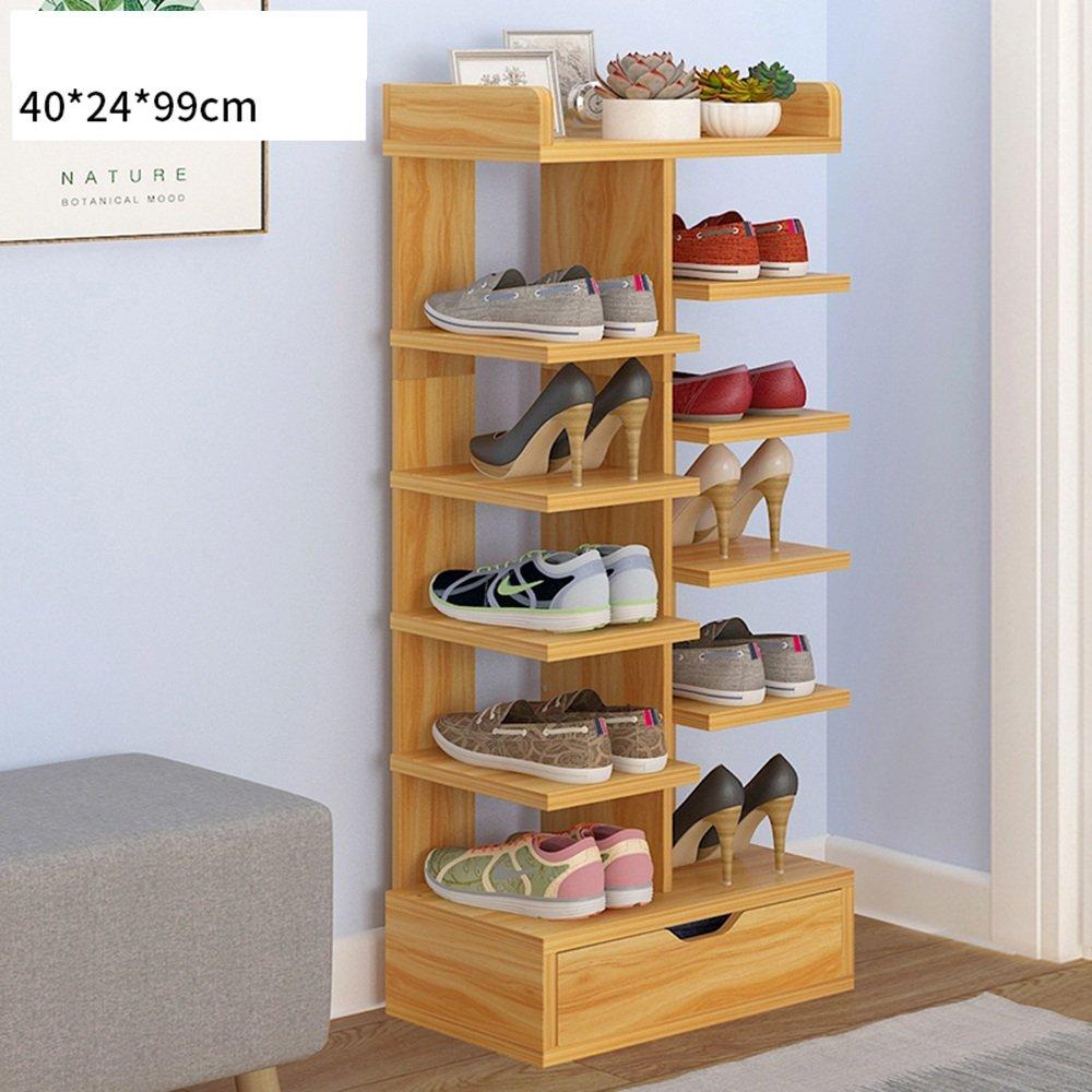 YNN 靴ラック6層引き出し家庭用ダストドアシュー大容量ラック (色 : 木の色) B07DWLRH43 木の色 木の色