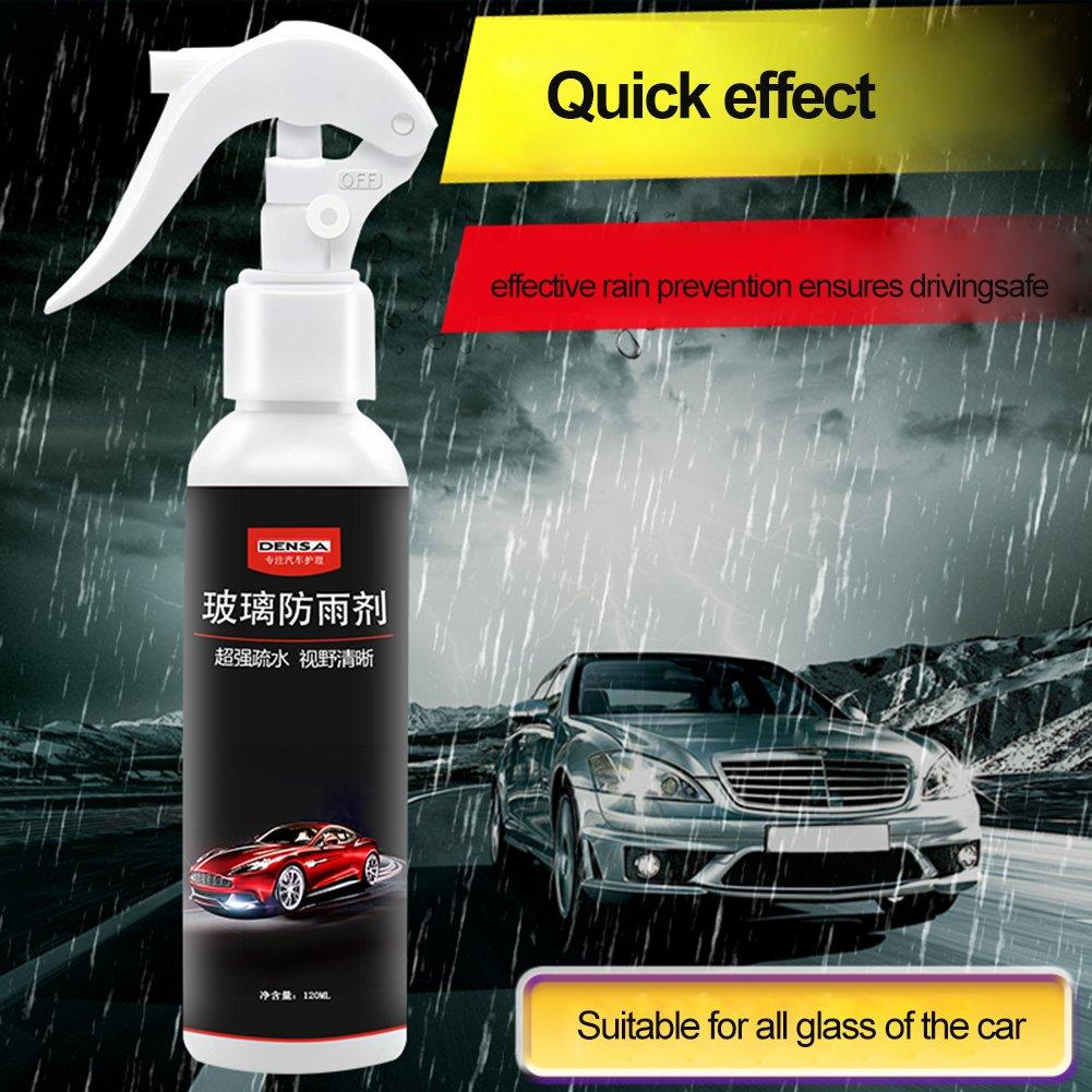 Spray anti-lluvia para coche delantero coche parabrisas anti-lluvia agente repelente espejo retrovisor (con una toalla, 120ml)