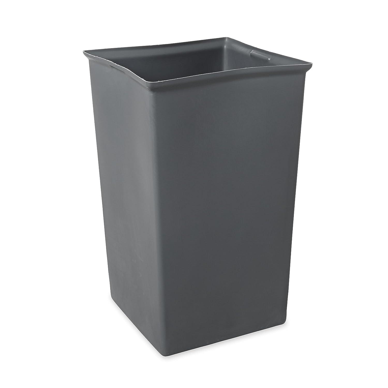 Rubbermaid CommercialRigid Trash Can Liner, Square, 35-1/2 Gallon, Gray, FG356700GRAY