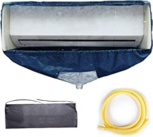 WOMACO Split Air Conditioner Cleaning Cover Cleaning kit Wall Mounted Air Conditioning Cleaner Kit Dust Washing Clean Bag Aircon Wash Bag Waterproof with Drain Outlet and Support Plates (Medium)